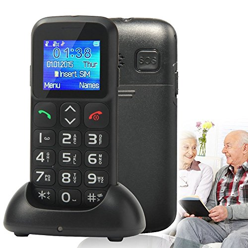 New Style Senior Citizen Mobile Phone bbfone B100 (W105) Big Button Candy Bar Unlocked Mobile Cell Phone with Dock - Black (New Mobile Phones compare prices)