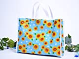 プールバッグ(ビーチバッグ)青空に咲く夏色ひまわり 日本製