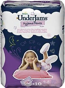 Pampers Underjams changes de nuit, Filles Taille S/M Paquet 4x10, 40 changes