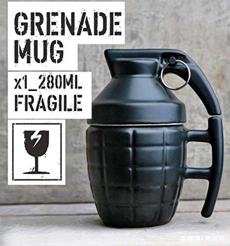 Ailiebhaus Tazza in ceramica con coperchio - tazze da tè e caffè forma di granata