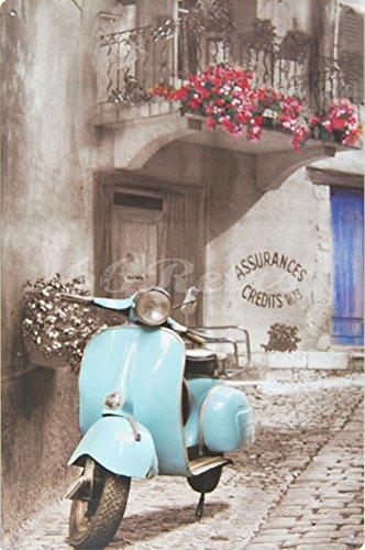 cielo-azul-piaggio-vespa-metal-tin-sign-adorno-de-pared-decoracion-de-estilo-vintage-tamano-8-x-12