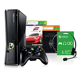 Xbox 360 250 GB + Forza Motorsport 4 – Essential Edition + Skyrim