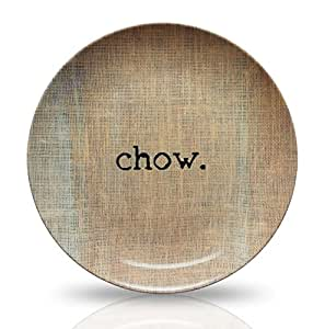"Amazon.com | 10"" Microwave Safe Plate - ' Chow' Design"