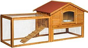 Kaninchenstall mit Freilaufgehege