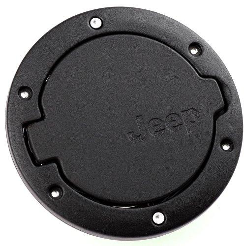2007-2013 Jeep Wrangler Fuel Filler Door Cover 4-Door 2-Door Black