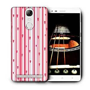 Snoogg Small Hearts Strips Pattern Printed Protective Phone Back Case Cover For Lenovo K5 Note