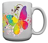 Painted Butterfly Custom Coffee Mug CERAMIC from Redeye Laserworks