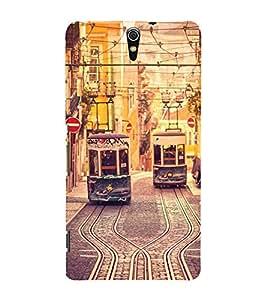 Trams 3D Hard Polycarbonate Designer Back Case Cover for Sony Xperia C5 Ultra Dual :: Sony Xperia C5 E5533 E5563