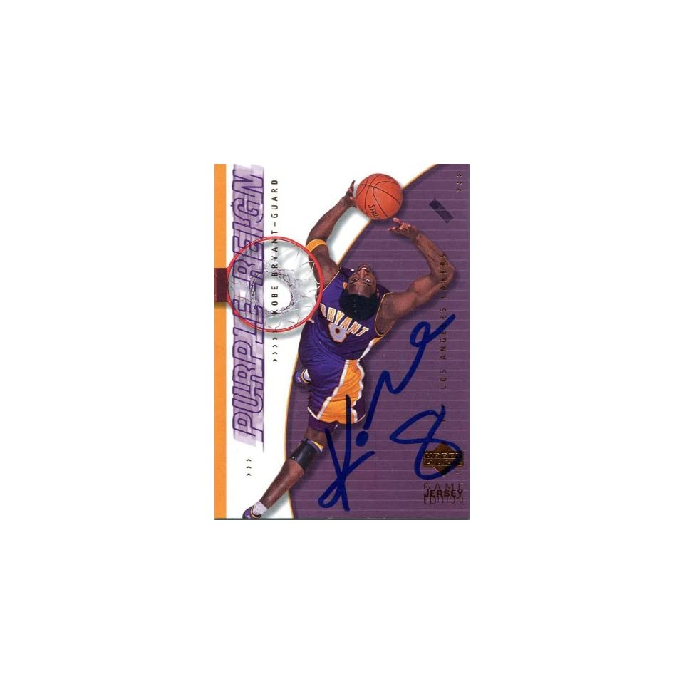 Kobe Bryant Autographed 2001 Upper Deck Card   Signed NBA Basketball Cards