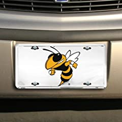 Buy Georgia Tech Yellow Jackets Silver Super Stock Metal License Plate by Football Fanatics