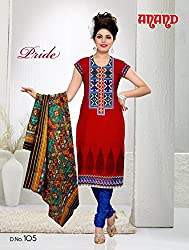 Anand Prints Women's Cotton Unstitched Dress Material (Dno105_MultiColored)