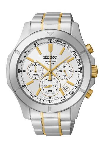 Seiko Analog Silver Dial Men 's Watch - SSB107P1