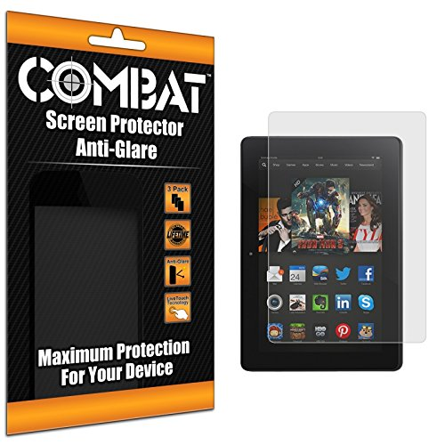 Cell Accessories For Less (Tm) Combat 3 Pack Anti-Glare Matte Screen Protector For Amazon Kindle Fire Hdx 7 + Bundle (Stylus & Micro Cleaning Cloth) - By Thetargetbuys