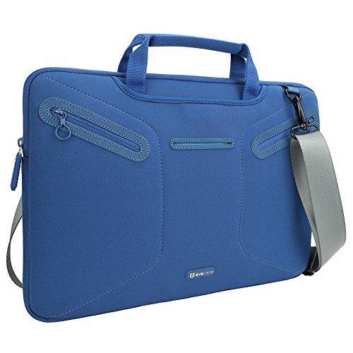 Evecase Laptop Neoprene Carrying Sleeve Case Messenger Tote Bag w/Shoulder Strap for Dell Inspiron 15