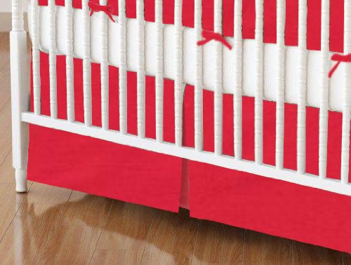 Solid Red Crib Bedding front-1021188