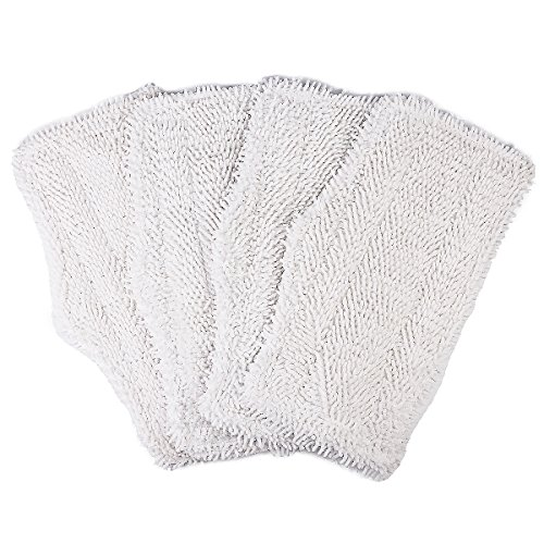 Flammi 4pcs Replacement Steam Mop Pads for Shark Steam and Spray Mop S3101, S3102, S3250, S3251, SK115, SK140, SK141, SK435CO, SK460 (Washable Shark Steam Mop Pad compare prices)