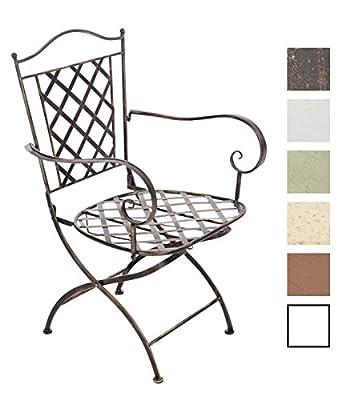 CLP nostalgischer Metall-Stuhl ADARA aus Eisen (aus bis zu 6 Farben wählen) von CLP auf Gartenmöbel von Du und Dein Garten