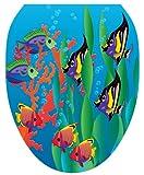 Toilet Tattoos TT-1800-O Under the Sea Design, Elongated