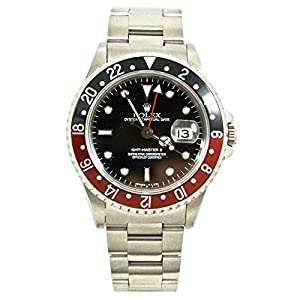 Rolex GMT Master II black mens Watch 16710 (Certified Pre-owned)