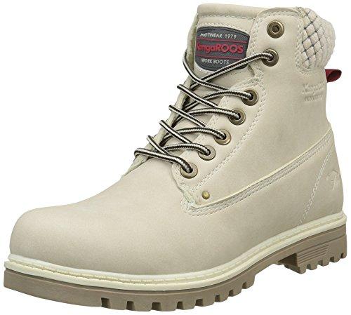KangaROOSRiveter W I - Stivali a metà polpaccio Desert boots Donna , Bianco (Blanc Cassé (Off White 010)), 38