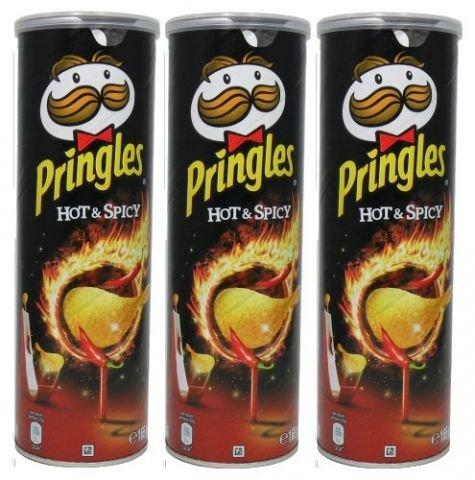 Pringles Kartoffelchips - Hot & Spicy 3PACK (3x165g)