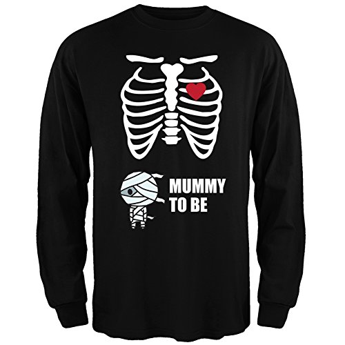 [Mummy to Be Baby Pregnant Skeleton Halloween Costume Long Sleeve - X-Large] (Pregnant Mummy Costumes)