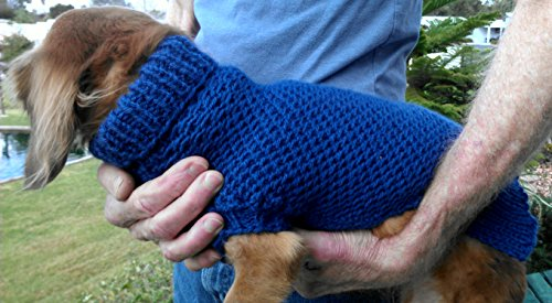 Lena's Easy Ripple Stitch Miniature Dachshund Sweater: Fits Miniature Dachshunds with Chest Circumference 15/38 cm to 18/46 cm, Length 15/38 cm or As Desired PDF