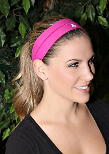 RAVEbandz Fashion Headbands (AZALEA) - Non-Slip Silicone Lined Sports & Fitness Hair Bands for Women and Girls