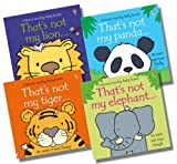 Fiona Watt Usborne That's Not My...Wild Animal Collection - 4 Books RRP £23.96 (That's not my panda; That's not my elephant; That's not my tiger; That's not my lion)