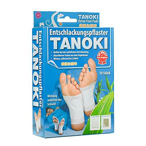 10 Fusspflaster TANOKI Detox Vitalpflaster Pflaster Pad Entgiften Turmalin Fuss