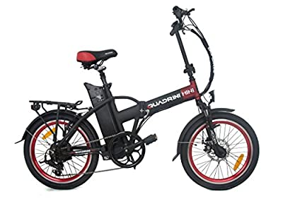 Electric bicycles QUADRINI, folding electric bicycle, model MINI, SHIMANO, Rear hub brushless motor 36V 250W, Battery lithium-ion 36V10Ah (360Wh)