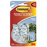 Command Medium Hooks with Strips - Clear