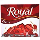 Royal Gelatin, Cherry 1.4oz 4-pack