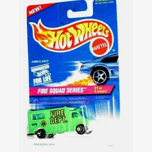 Hot Wheels 1995 Fire Squad Series #1 of 4 Ambulance - 1