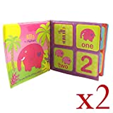 Bath Book Make Bath Time Of Your Baby Entertaining Pack of 2 Jungle