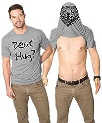 Bear Hug Flip T Shirt Funny Flipover Tee - Turn into a Bear by Crazy Dog Tshirts