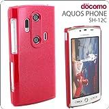 AQUOS PHONE SH-12Cケース ラメ/マゼンタ