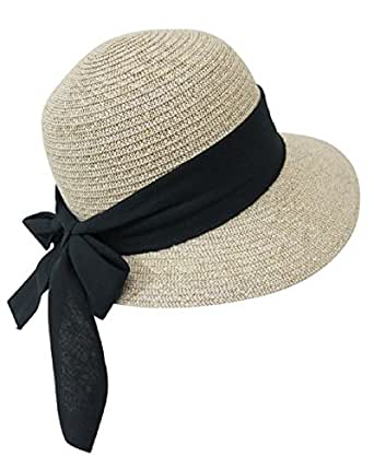 straw packable sun hat for wide front brim and