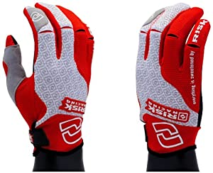 Risk Racing Carbide Moto Gloves (Red/White, Medium)