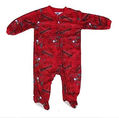 Tampa Bay Buccaneers Toddler Size 0-3 Months Full Zip Footed Pajamas