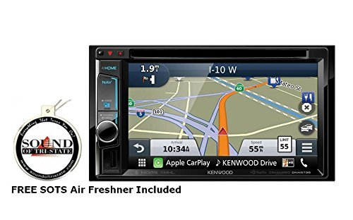 "Kenwood DNX573S 6.2"" DVD CD Navigation Receiver with a FREE SOTS Air Freshener"