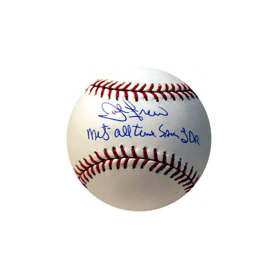 John Franco Autographed MLB Baseball with Mets All Time Saves LDR Inscription