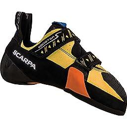 Scarpa Booster S Climbing Shoe, Black/Yellow, 43 EU/10 M US