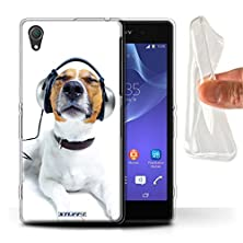 buy Stuff4 Gel Tpu Phone Case / Cover For Sony Xperia Z2 / Chillin Headphone Dog Design / Funny Animals Collection