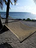 Caribbean Rope Hammock - 55 Inch - Soft-Spun Polyester (Natural Cream)