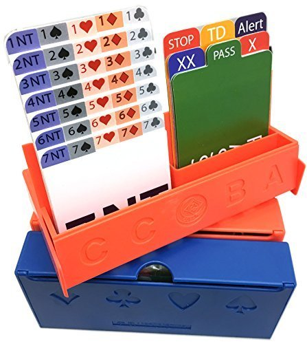 JYW-Bridge-Bidding-Box-Set-2-Red-2-Blue-Set-of-4-with-Bidding-Cards