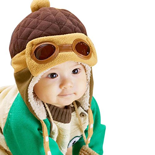 Fullkang-Baby-Boys-Earflap-Hat-Winter-Warm-Pilot-Aviator-Crochet-Caps-Coffee