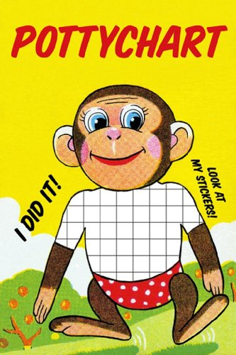 Pottychart Monkey, 12X18 Poster, Heavy Stock Semi-Gloss Paper Print front-995712
