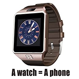 A8 POWER DZ09 Gear S Bluetooth Smart Watch WristWatch Sim Insert Anti-lost Call Reminder Phone Mate (Bronze)