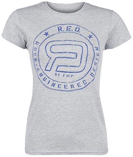 R.E.D. by EMP Logoshirt Maglia donna grigio sport S